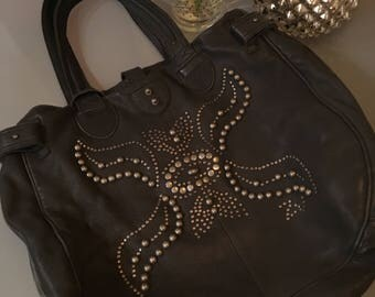 Vintage Zadig and Voltaire bag - studded butterflies