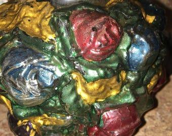 Turn of the century Goofus Glass Vase