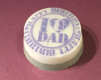 Handmade soap, image soap, picture soap,I love you DAD soap