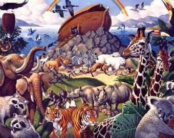 5D Diamond Mosaic Diy Diamond Embroidery Noah's Ark Square Paste Full Cross Stitch Kit Diy Diamond Painting