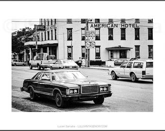 Black and White Photograph - Ford American Hotel