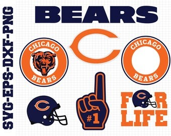 Chicago Bears Svg, cut files, print files, clipart, vector, T-shirt design, football logo, circut, silhouette cameo