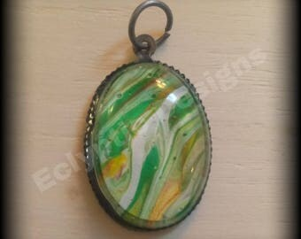 One of a kind acrylic skin pendant