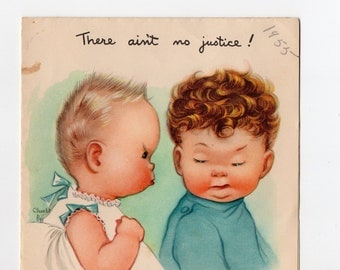 Vintage Funny Baby Birthday Card | Used Collectible Card | Made in USA | Paper Ephemera