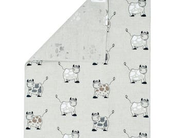 Tea Towel Cow Design