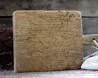 French antique wood cutting board. French kitchen. Vintage bread board. Vintage chopping block. French breadboard. Antique oak board. Wood