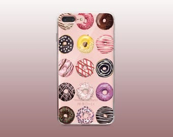 Donuts Clear TPU Phone Case for iPhone 8- iPhone 8 Plus - iPhone X - iPhone 7 Plus-iPhone 7-iPhone 6-iPhone 6S-Samsung S8