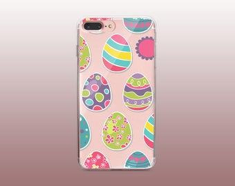 Easter eggs Clear TPU Phone Case for iPhone 8- iPhone 8 Plus - iPhone X - iPhone 7 Plus-iPhone 7-iPhone 6-iPhone 6S-Samsung S8