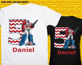 Transformers / Iron On Transfer / Transformers Birthday Shirt Transfer DIY / Transformers High Resolution 300 DPI / Digital Files