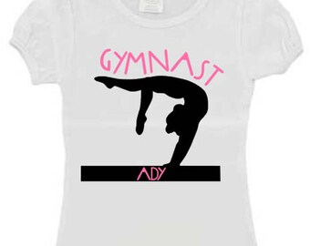 Personalized gymnast shirt