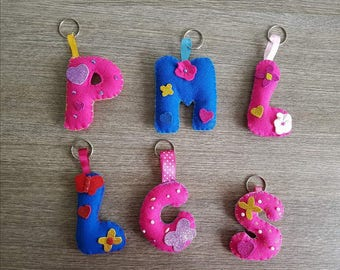 Hand made Keychain letters