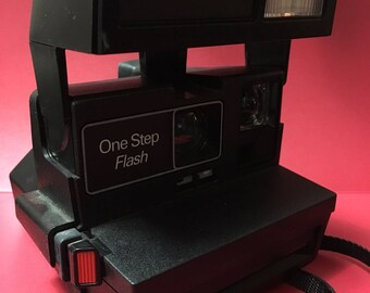 Vintage One Step Flash Polaroid Camera Circa 1980's