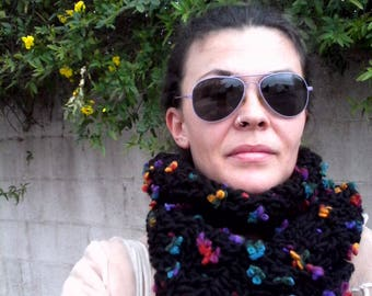 scarf ,  special accessory , unique, hand made, Chunky Crochet Scarf. Infinity scarf