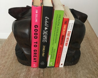 Hand-crafted wooden bookends
