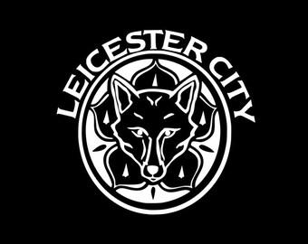 Leicester City Vinyl Decal - Multiple Sizes- Multiple Colors- MATTE Colors Available