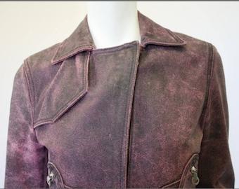 Vintage VERSACE Distressed Leather Motorcycle Jacket