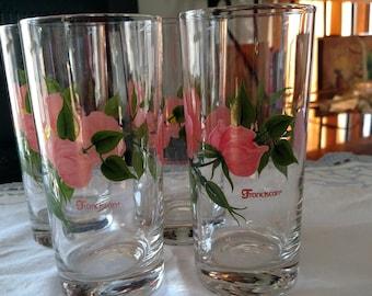 Franciscan Desert Rose glasses
