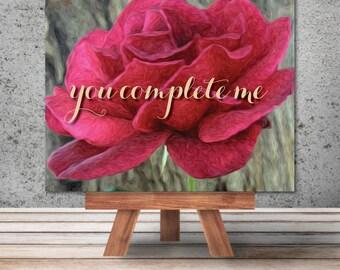 "Unique Custom Art: ""You Complete Me"""