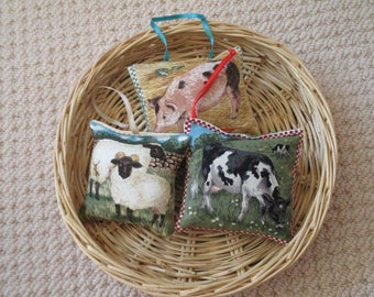 Lavender Sachet Trio - Farmyard Friends