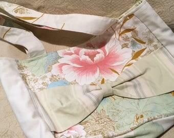 Purse-Floral Purse-Tote-Bag-Shoulder Purse-Purse with Peonies-Pink Purse