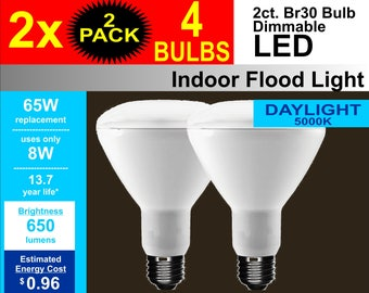 LED 65W/8W DIMMABLE 4PK