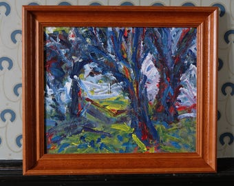 Original oil 'Trees' by David Hawkins - Royal Academy Summer Exhibition 1989
