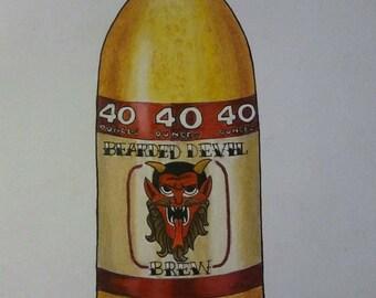 Bearded Devil 40oz print