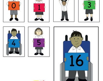 EYFS KS1 Multi-Cultural Diverse Number Posters/Flashcards Educational Printable Resource