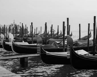Venice Photography    Gondola Printable   Venice City Photograph   Fine Art Printable   Venice Gondolas   Home and Office Fine Art Printable