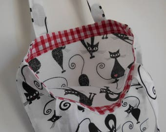 Love cat kids, children, girl, min/ tote/beach/gym and shopping bag project bag/knitting bag