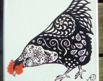 Pecking Hen