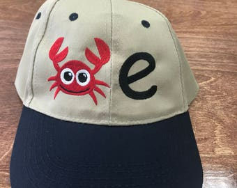 Crab-E Embroidered Hat Cap Low Profile