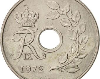 denmark frederik ix 25 öre 1972 copenhagen au(50-53) copper-nickel