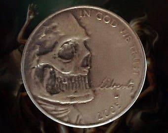 Deadman Smile Hobo Nickel Skull Coin WDWMKR