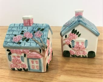 "Vintage House Salt and Pepper Shakers from ""Our Town"" Collection"