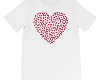 Valentines Day Funny Heart Cat T-Shirt