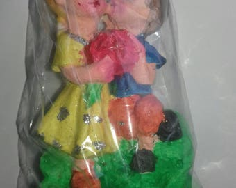 Handmade very colourful dolls made by plaster of paris.