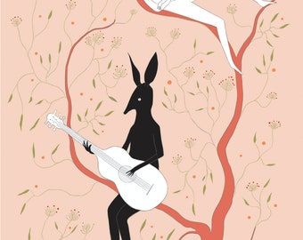 Bilby Love Song Dedications A3 size