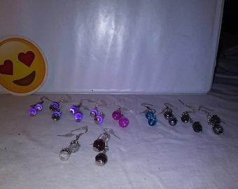 Hand made dangle earrings