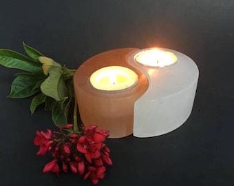Selenite Yin Yang Candle
