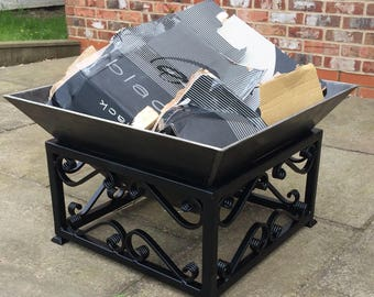 Wrought Iron Style Fire Pit