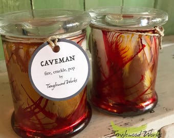 Caveman Hand Painted & Poured Soy Candle
