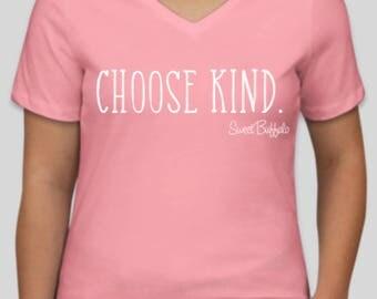Pink Choose Kind V-Neck Shirt