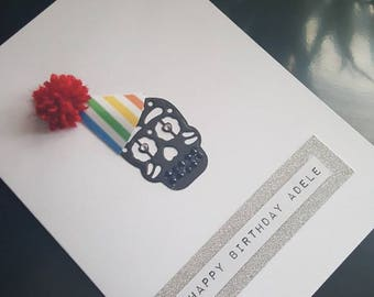 Personalised Day of the dead sugar skull birthday card