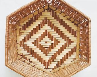 Hexagonal Printed Basket.