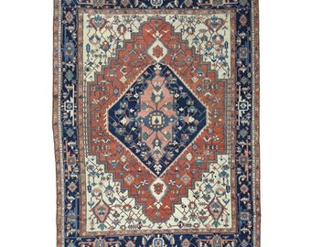 """9'10""""x13'5"""" Antique Persian Serapi Good Cond Hand-Knotted Oriental Rug"""