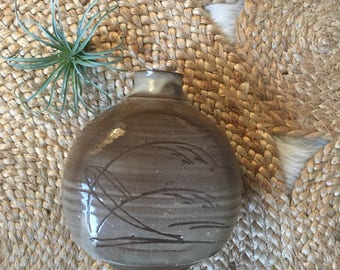 Brown toned pottery vase