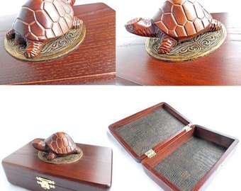 Amazing casketTurtle gold ornamentJewelry organizer Rustic casket Carved Wooden jewelry box Jewelry box Jewelry casket Earrings