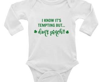 First St. Patricks Day - 1st St. Patricks Day - St. Patricks day onesie - Infant Long Sleeve Bodysuit