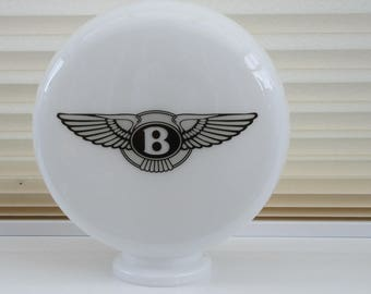 Gas Pump Mini Globe Bentley Style, Petrol Pump Glass Globe, Automobilia, Man Cave,
